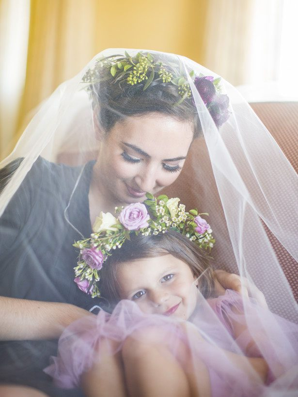 Flower Girl and Bride - Anna Schmidt Photography