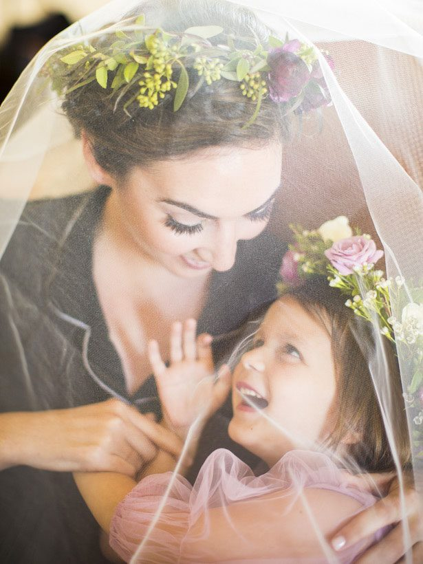 Flower Girl and Bride photo - Anna Schmidt Photography