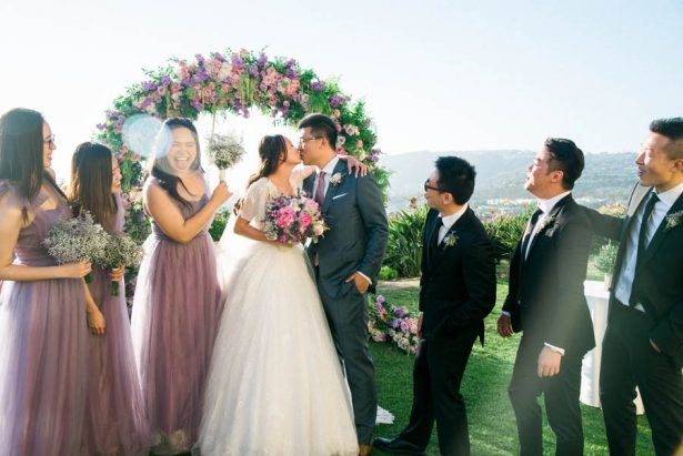 Garden Wedding Kiss - Donna Lams Photo