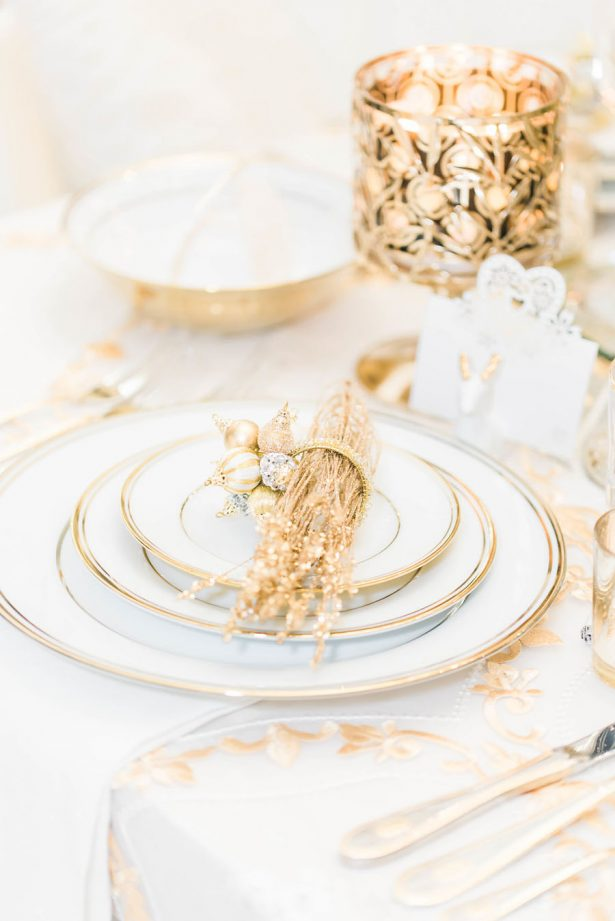 Glamorous Wedding Plate Setting - Lula King Photography