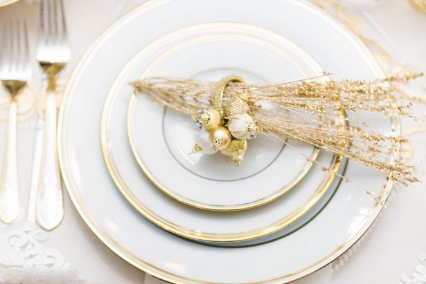 Glamorous Wedding Plate Setting Decor – Lula King Photography