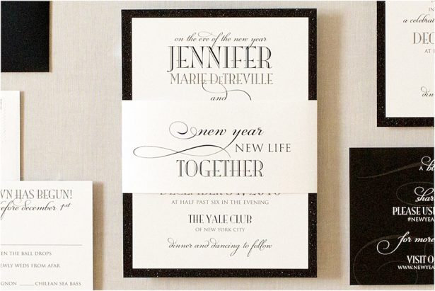 Glitz and Glam Wedding Ideas - NYE - 014. Gourmet Invitations