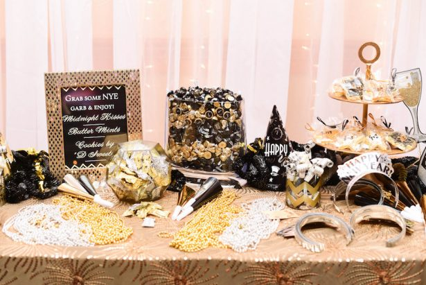 Glitz and Glam Wedding Ideas - NYE - 021. Susie Marie Photography - Dirty Helen Paper Company - Cake: The Cakery