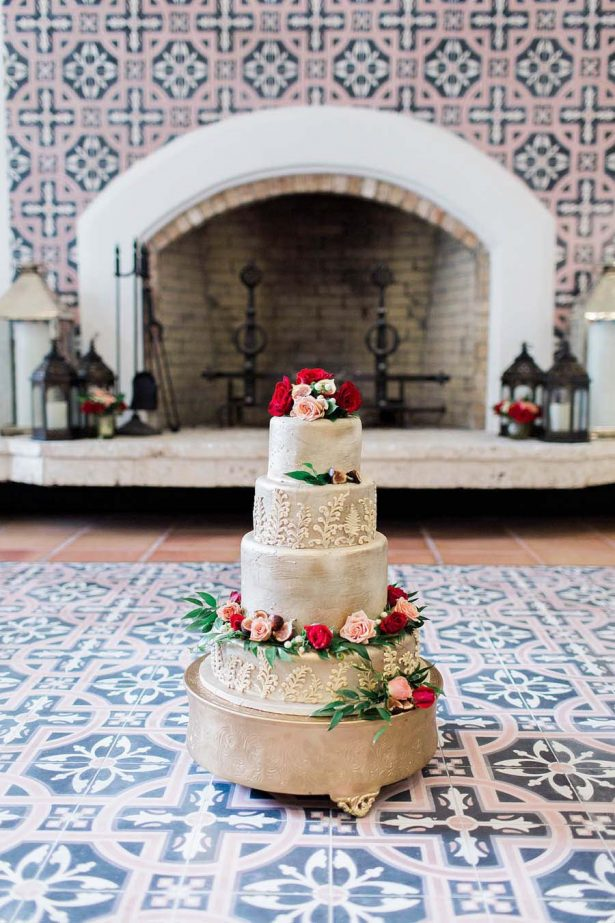 Gold Wedding Cake - Harmony Lynn Photography