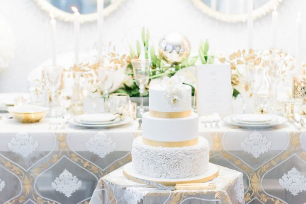 Gorgeous White and Gold Wedding Tablescape - Lula King Photography
