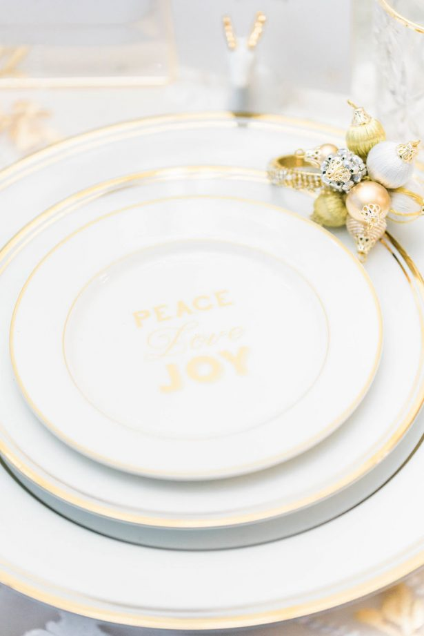 Holiday Wedding Plate Setting - Lula King Photography