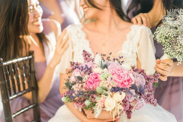 Lavender Wedding Bouquet - Donna Lams Photo