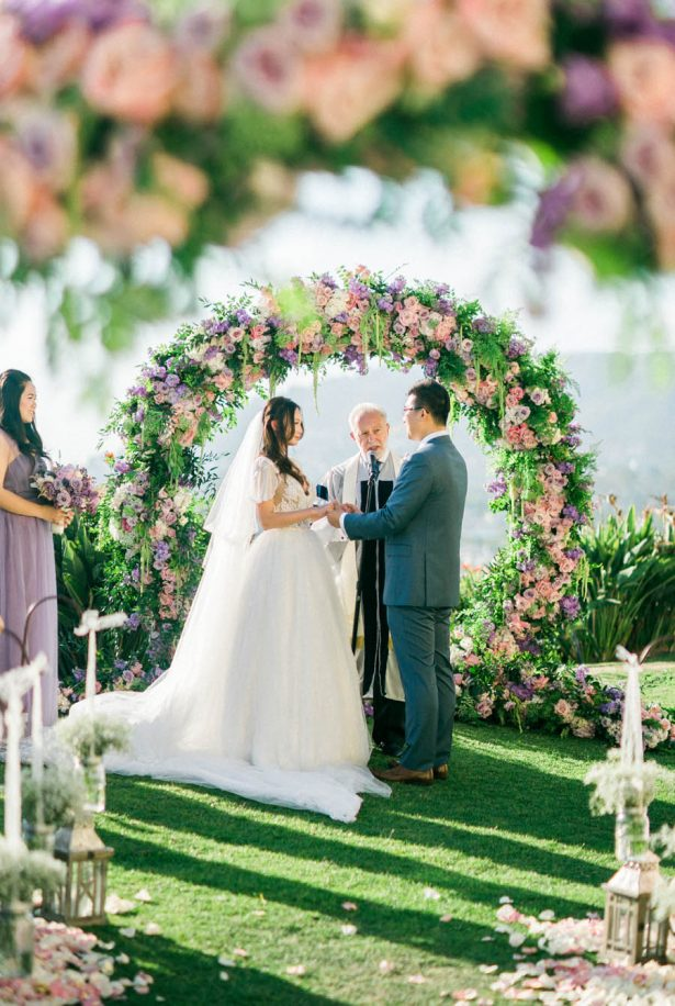 Lavender Wedding Ceremony - Donna Lams Photo