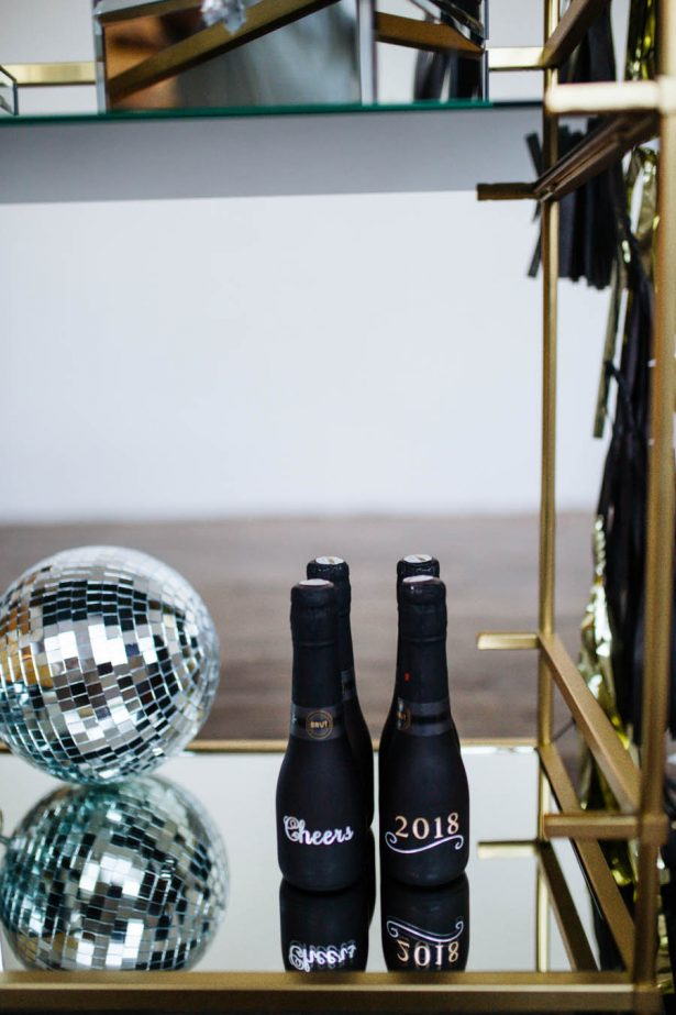 Happy New Year Champagne Tag - Sparrow and Gold Photography