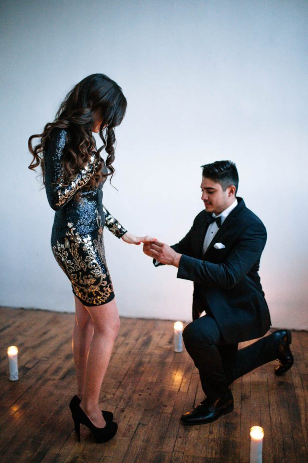 New Year's Eve Proposal Inspiration - Sparrow and Gold Photography