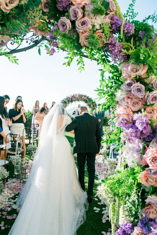 Outdoor Wedding Arch - Donna Lams Photo