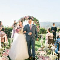 Outdoor Wedding Ceremony - Donna Lams Photo