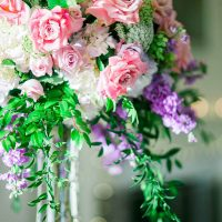 Pink Wedding Centerpiece - Donna Lams Photo