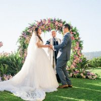 Pink Wedding Ceremony - Donna Lams Photo