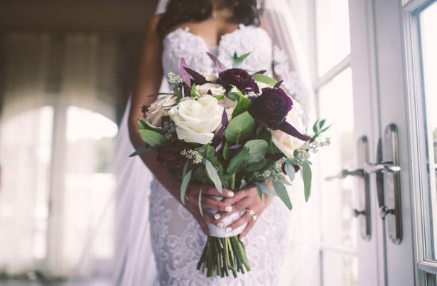 Purple Wedding Bouquet - Julian Ribinik Photography