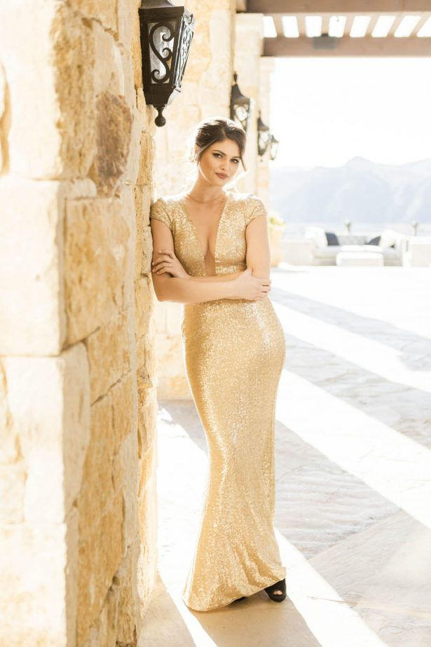 Sexy Gold Wedding Dress - Love and You Photography
