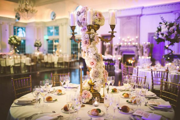 Tall Wedding Centerpiece - Julian Ribinik Photography