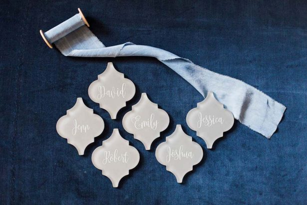 Tile Place Cards - Harmony Lynn Photography