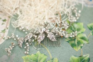 Sophisticated Vintage Wedding Hairpiece - Faria Munmun Photography