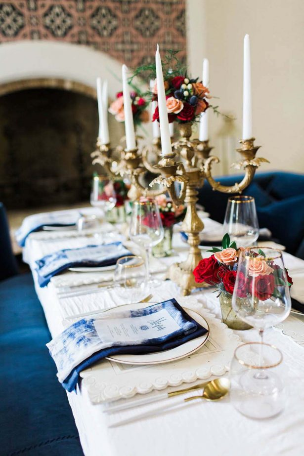 Vintage Wedding Tablescape - Harmony Lynn Photography