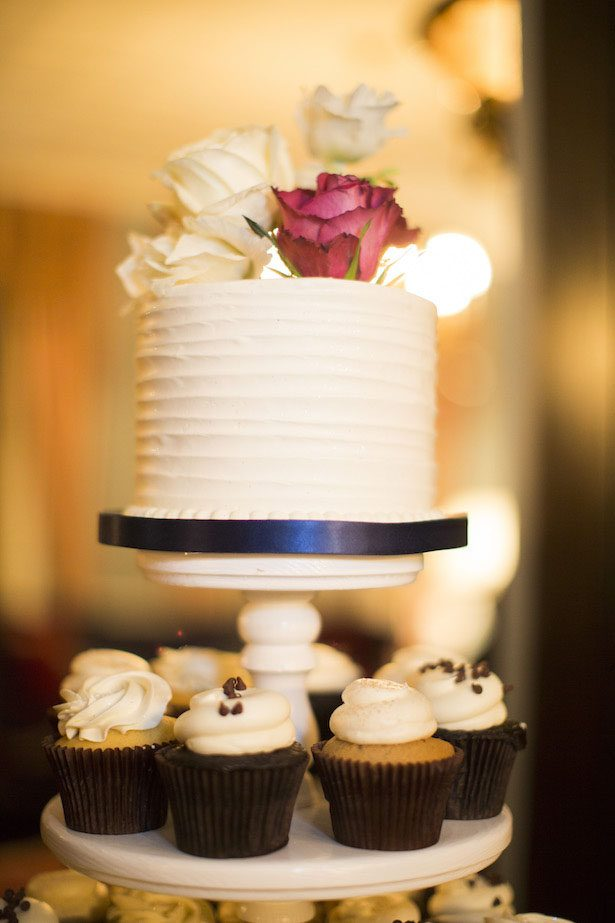 Wedding Cake and cupcake tower - Anna Schmidt Photography