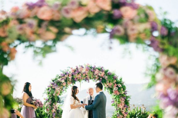 Wedding Floral Arch - Donna Lams Photo