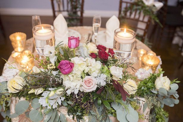 Wedding Sweetheart table centerpiece - Anna Schmidt Photography