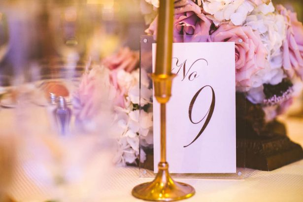 Wedding Table Number - Julian Ribinik Photography