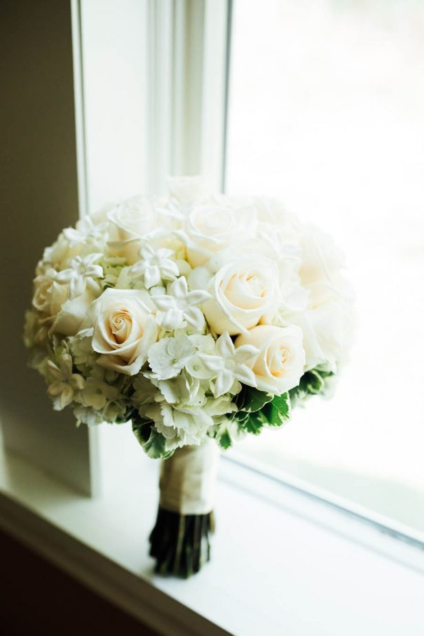 White Wedding Bouquet - Esvy Photography