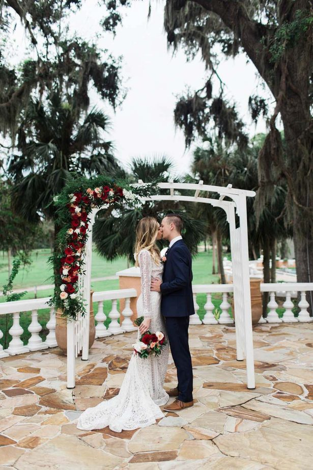 Winter Wedding Ceremony Inspiration - Harmony Lynn Photography