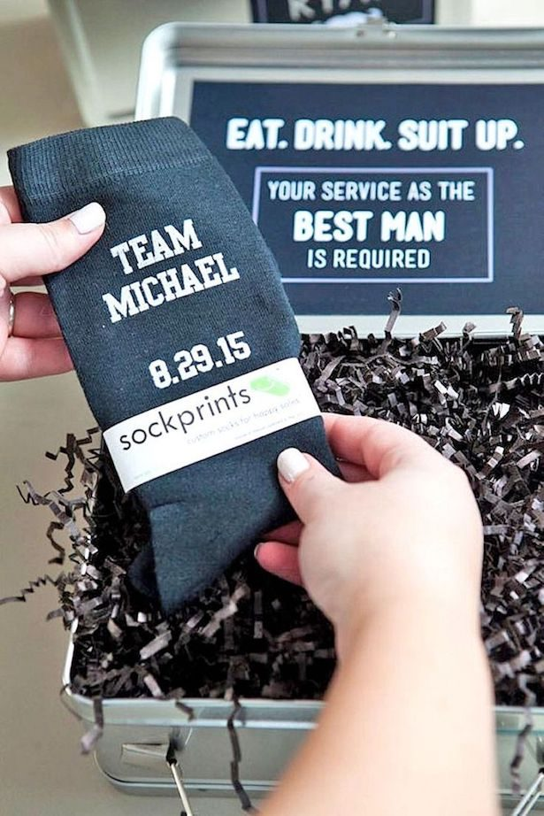 Groomsmen Proposal Ideas - Custom Socks