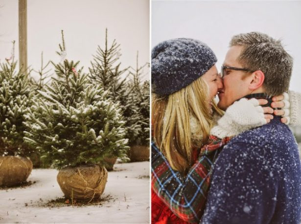 Christmas Engagement Picture - Megan Saul Photography