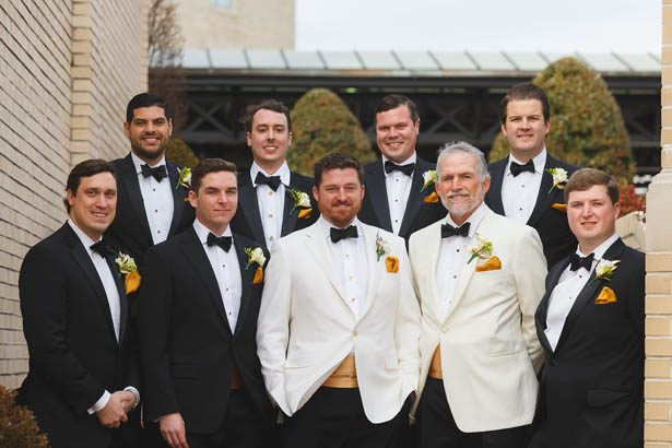 Black tie wedding groomsmen - Don Mears Photography