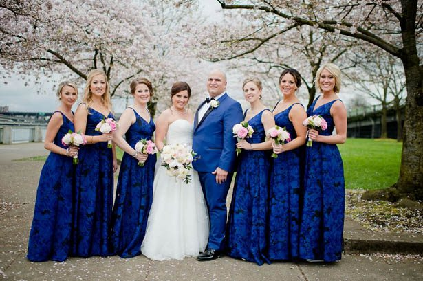 Blue Bridesmaid Dresses - Photography: Mosca Studio