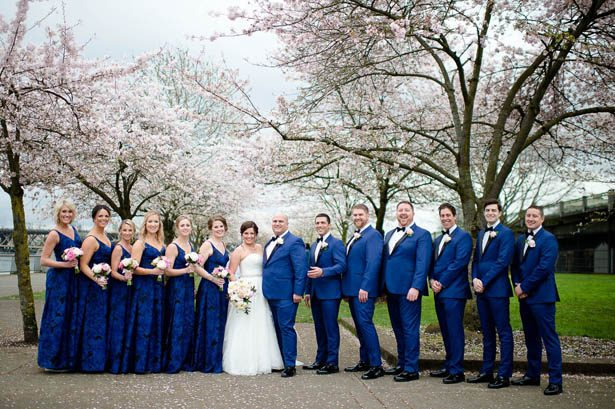 Blue Wedding Party outfits - Photography: Mosca Studio