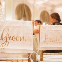 Bride and groom chairs - Don Mears Photography
