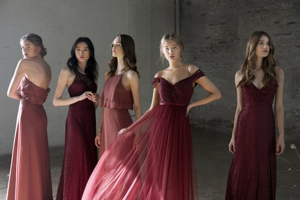 Burgundy Bridesmaid Dresses - 012. Jenny Yoo Collection - This Modern Romance - Photography: This Modern Romance
