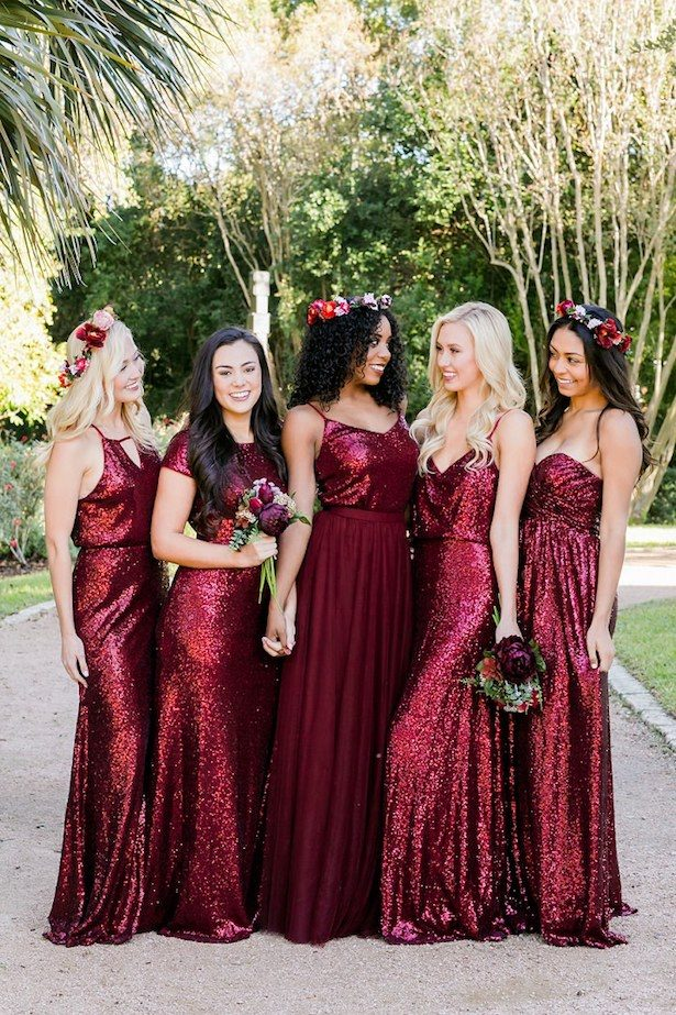 Burgundy Bridesmaid Dresses by Revelry