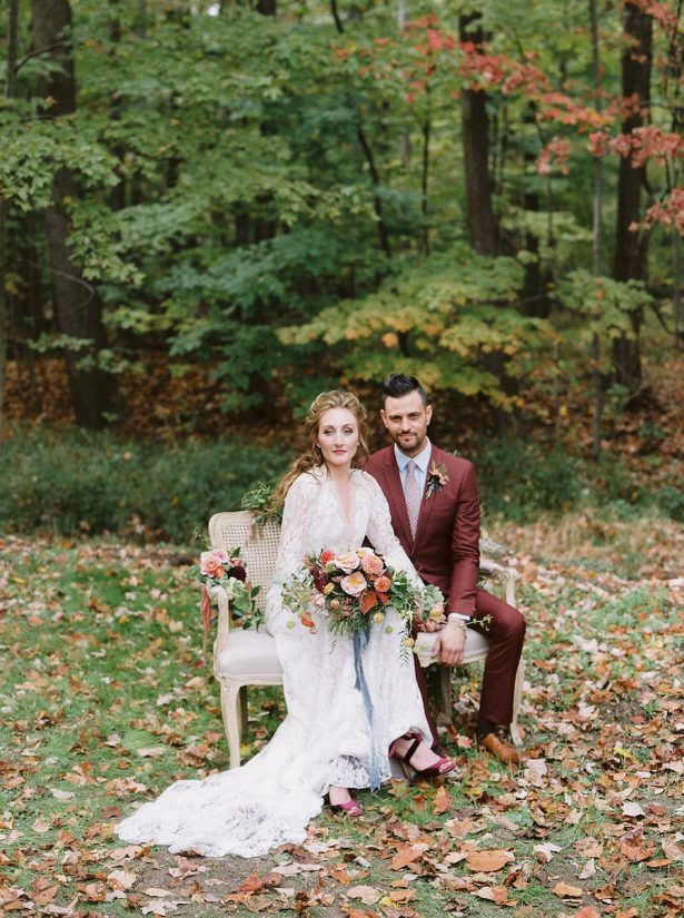 Burgundy Wedding Attire - Photography: Jenny Haas