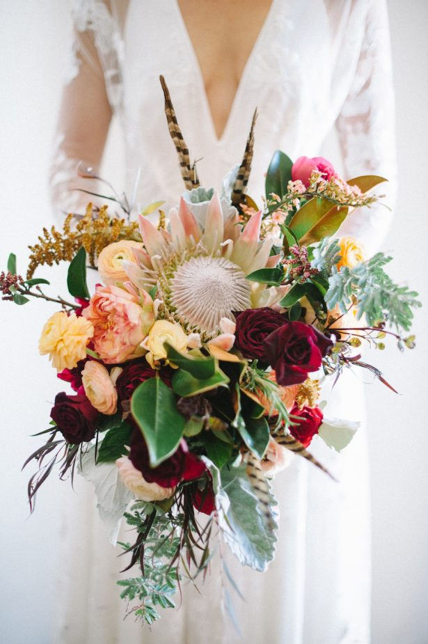 Burgundy Wedding Bouquet - Hannah Arista Photography