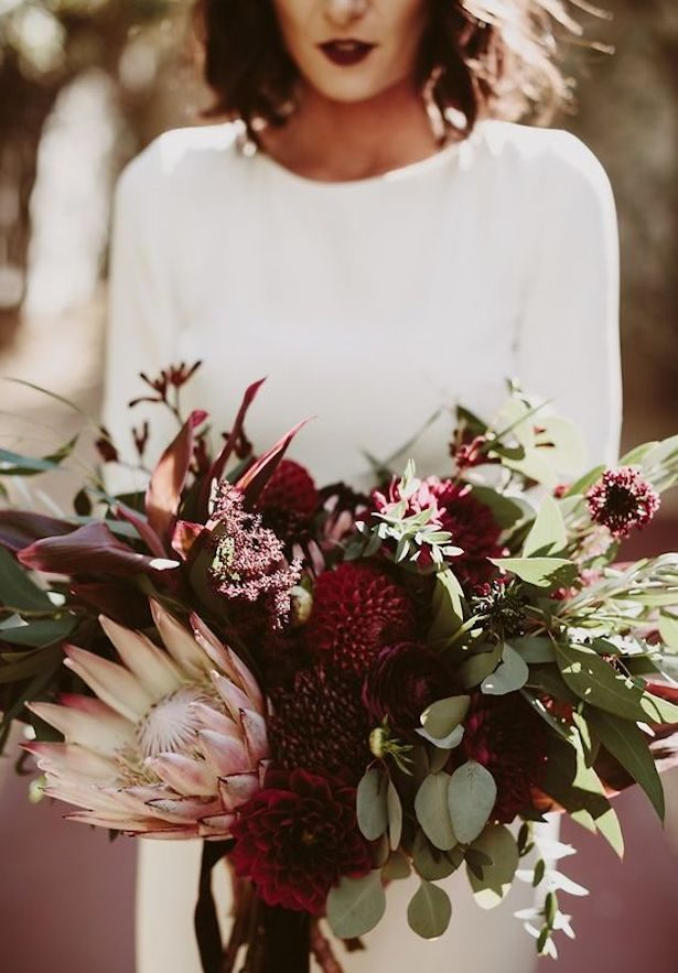Burgundy Wedding Bouquet - Photography Lauren Scotti