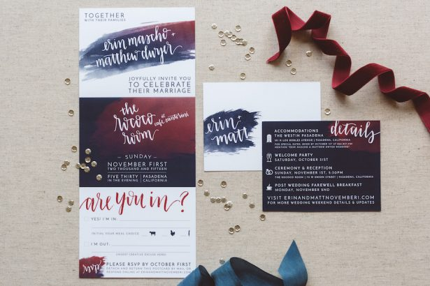 Burgundy Wedding Stationery - 009. HoneyFitz Events - Anna Delores Photography - Song & Pen