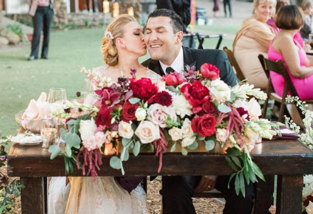 Chic Ranch Wedding in Malibu – Complete with Lush Burgundy Florals