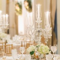 Crystal Chandelier wedding centerpiece - Don Mears Photography