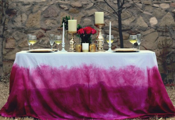 DIY Dip Dye Table cover Instructions - RIT
