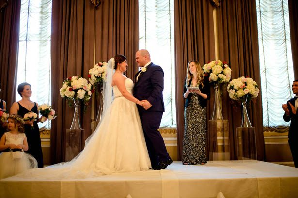 Elagant Ballroom Wedding Ceremony - Photography: Mosca Studio
