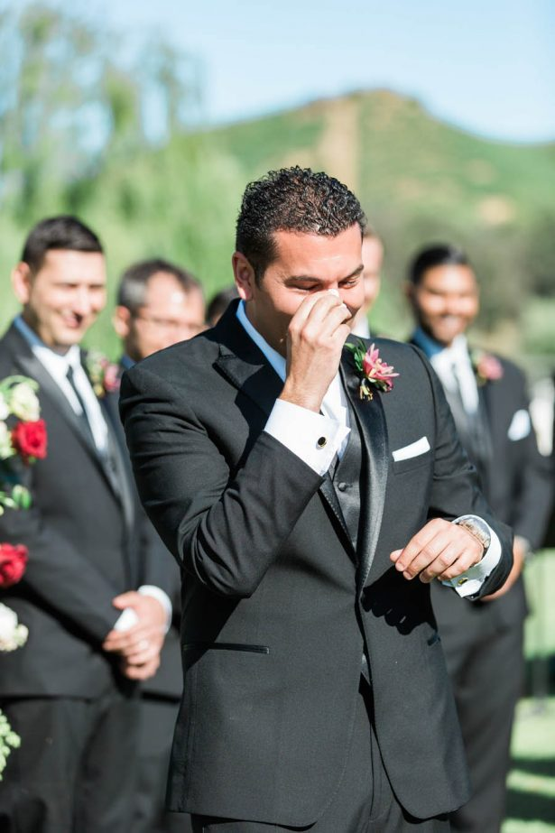 Emotional Groom - Jenny Quicksall Photography