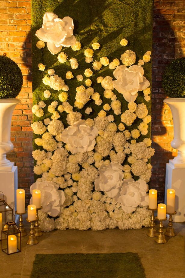 Floral wedding background - Emily Leis Photography