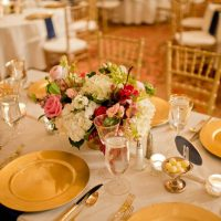 Gold Wedding Table - Photography: Mosca Studio