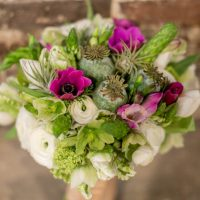 Green Wedding bouquet - Emily Leis Photography